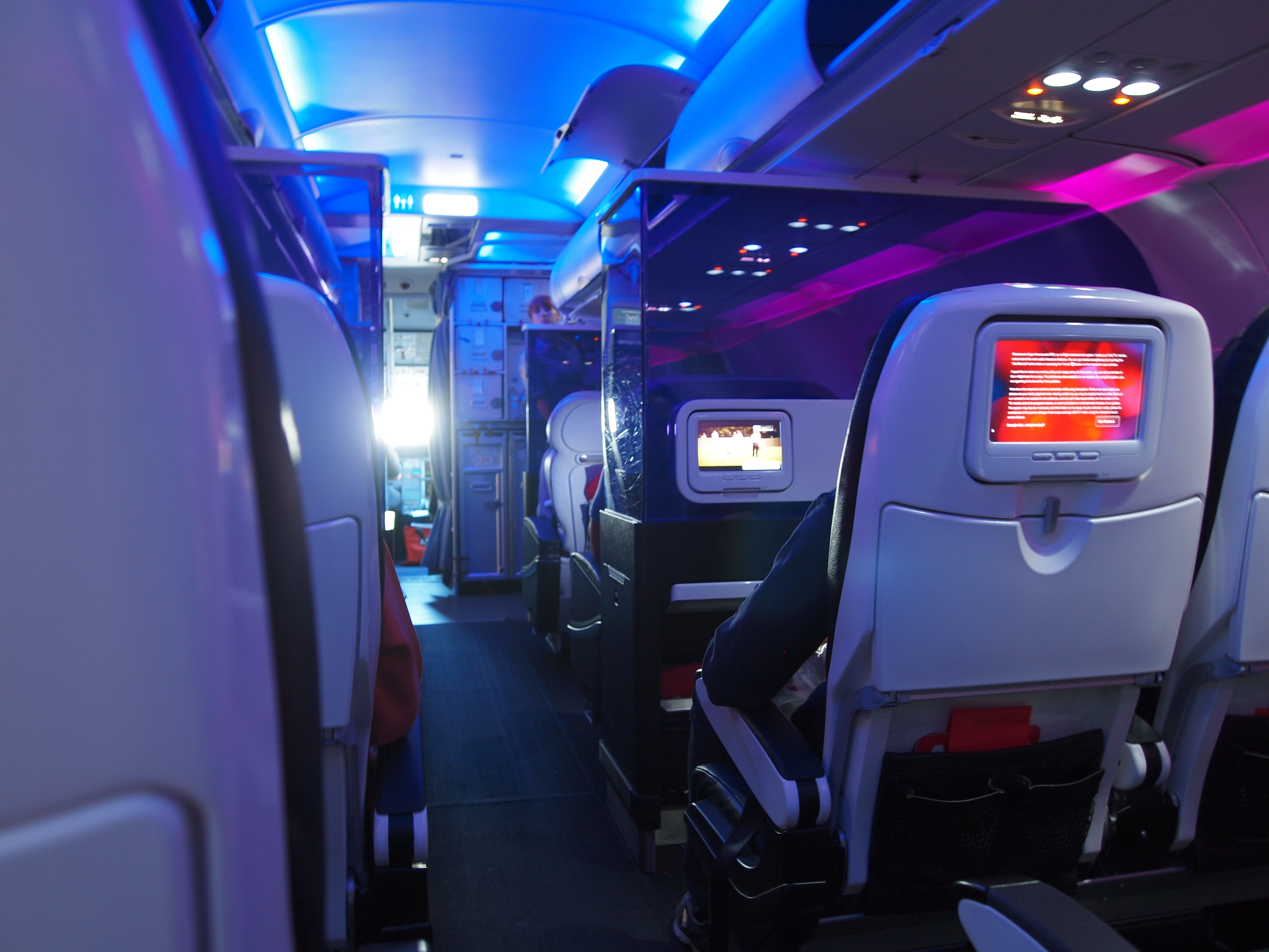 The First Class Cabin Ahead Of The Economy Cabin. «