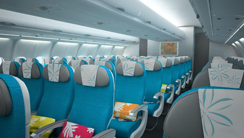 Air tahiti nui revitalise inflight product thedesignair for Interieur avion air france