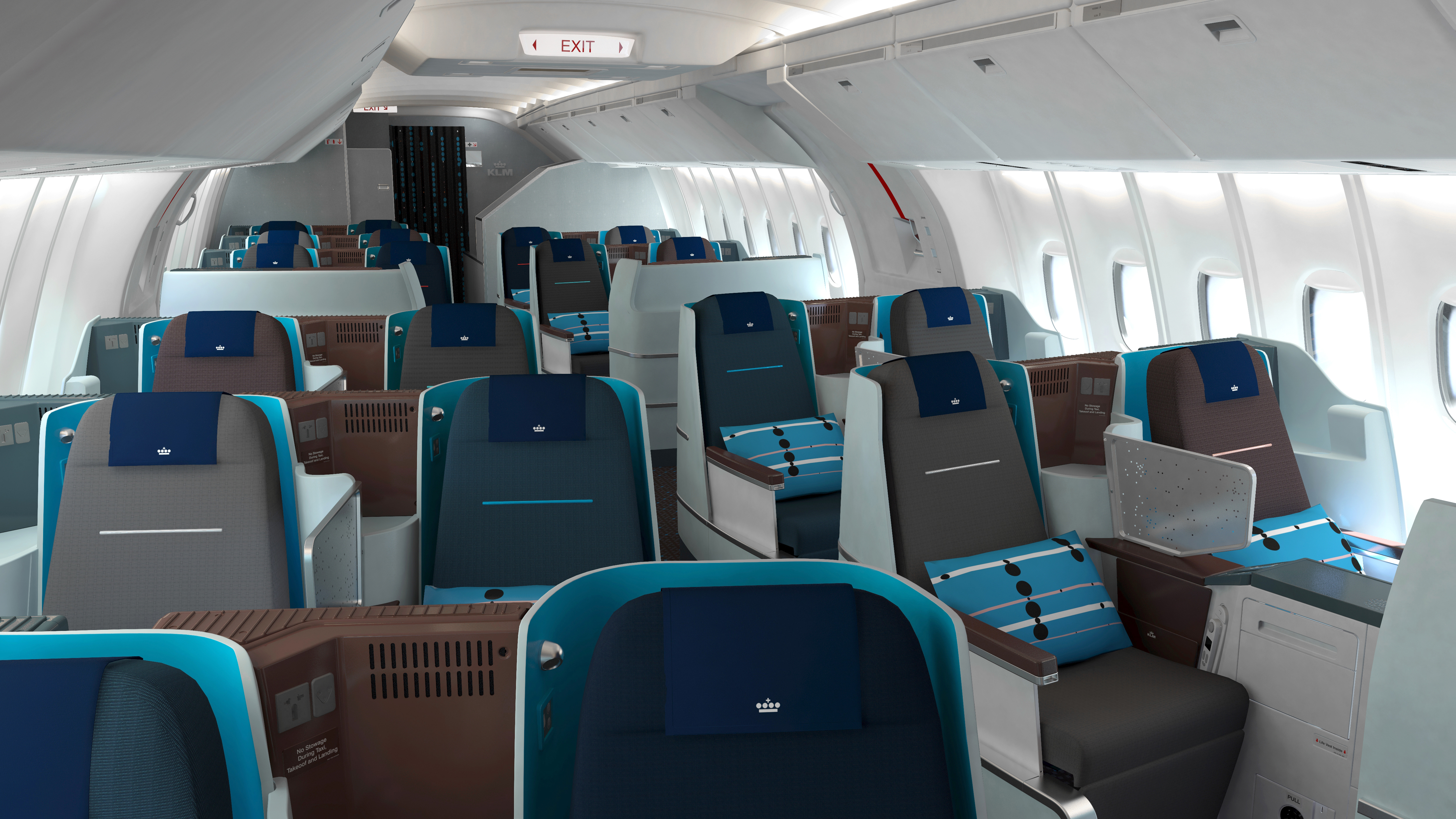 Boeing 777 jet business class klm 2017 for Boeing 777 interior