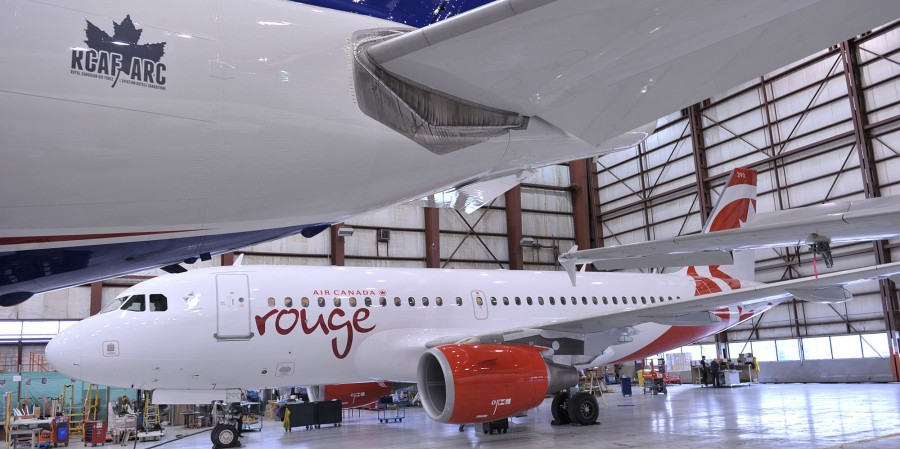 Air Canada rouge shares first look at newly painted plane