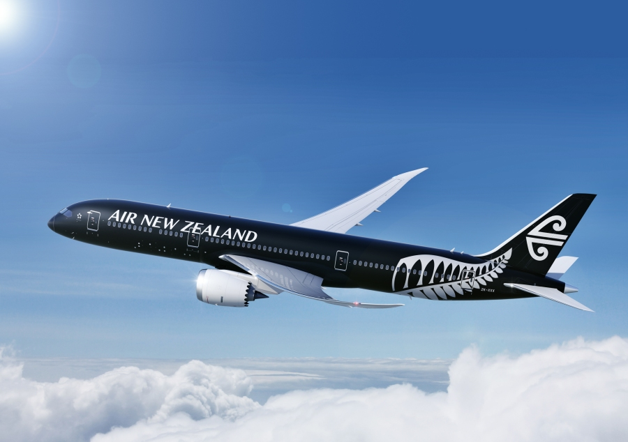 Air NZ black livery press