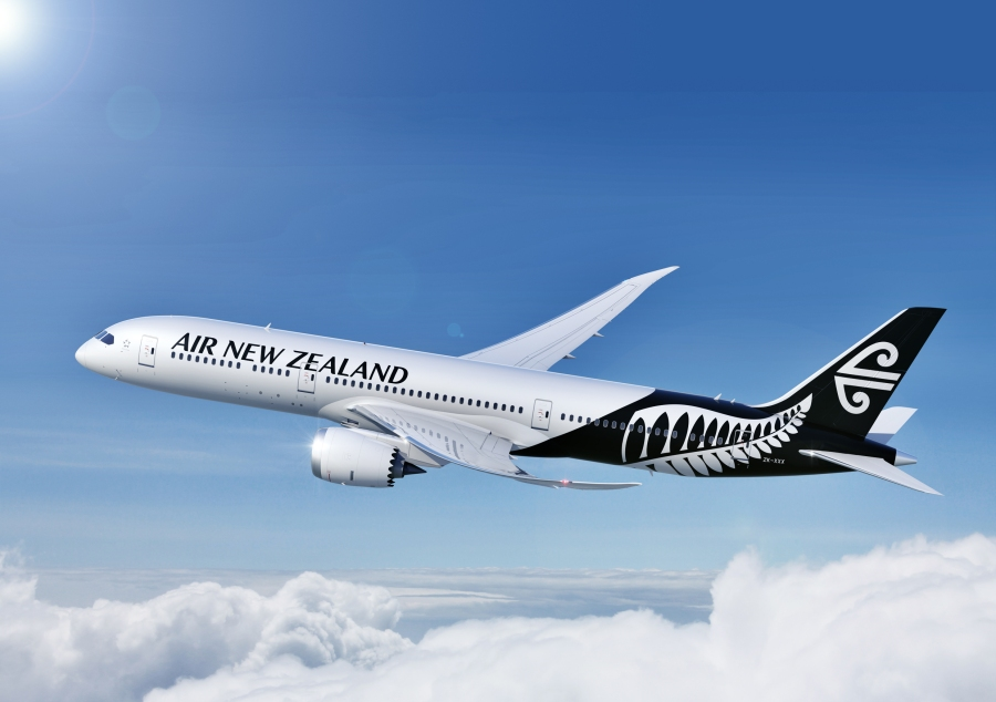 Air NZ white livery press