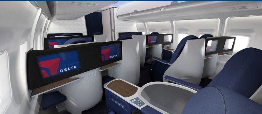 battle of the trans con with delta taking on jetblue thedesignair. Black Bedroom Furniture Sets. Home Design Ideas