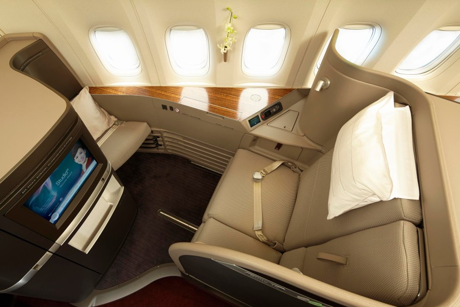 The refreshed First Class suites and new features enhance the overall experience for premium passengers