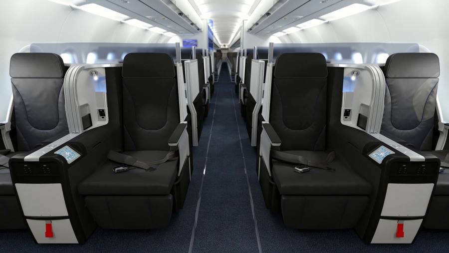 JETBLUE AIRWAYS MINT FRONT ROW