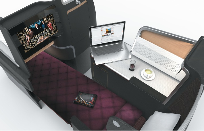 Qantas A330 preview - Business Suite1 (artist impression)