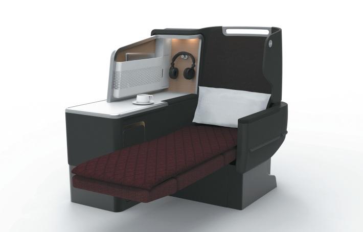 Qantas A330 preview - Business Suite2 (artist impression)