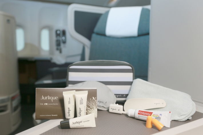 Cathay Pacificís newly launched Business Class male amenity kit for flights to Hong Kong