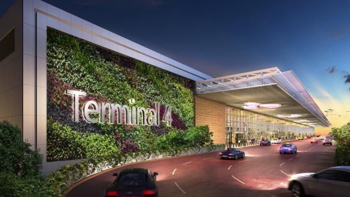 Driveway to Terminal 4 Departure Kerbside HR