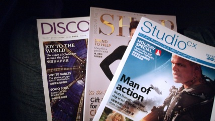 The selection of Cathay Pacific magazines