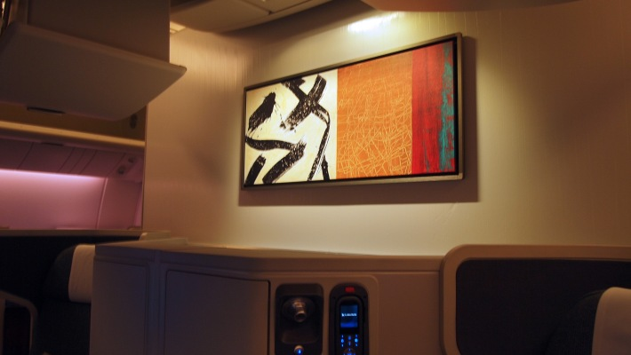 Brilliant original artworks on the bulkhead walls