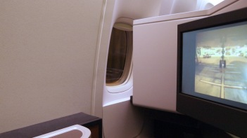 Cathay Pacific's 19A, lacking a window, but still perfect
