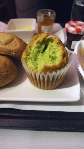 Green Tea Muffin, part of Cathay Pacific's Business Class breakfast