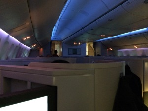 Cathay Pacific Business Class cabin shot
