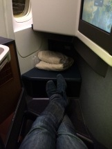 Legroom of the Cathay Pacific seat