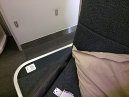 Detail of the Cathay Pacific New Business Class seat