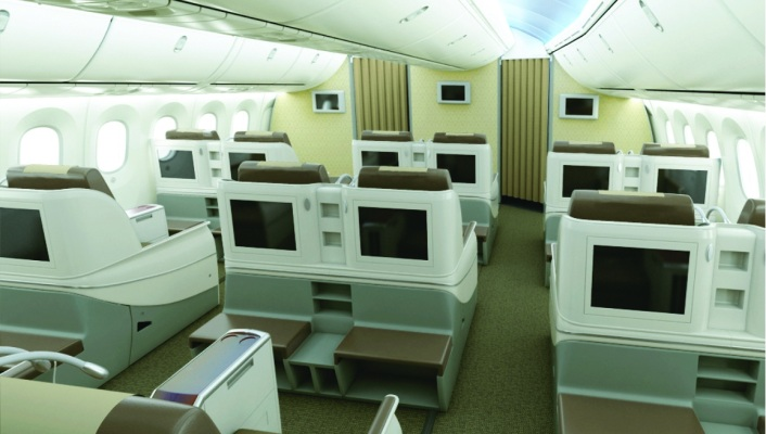 Royal Brunei Dreamliner Interior - Business Back