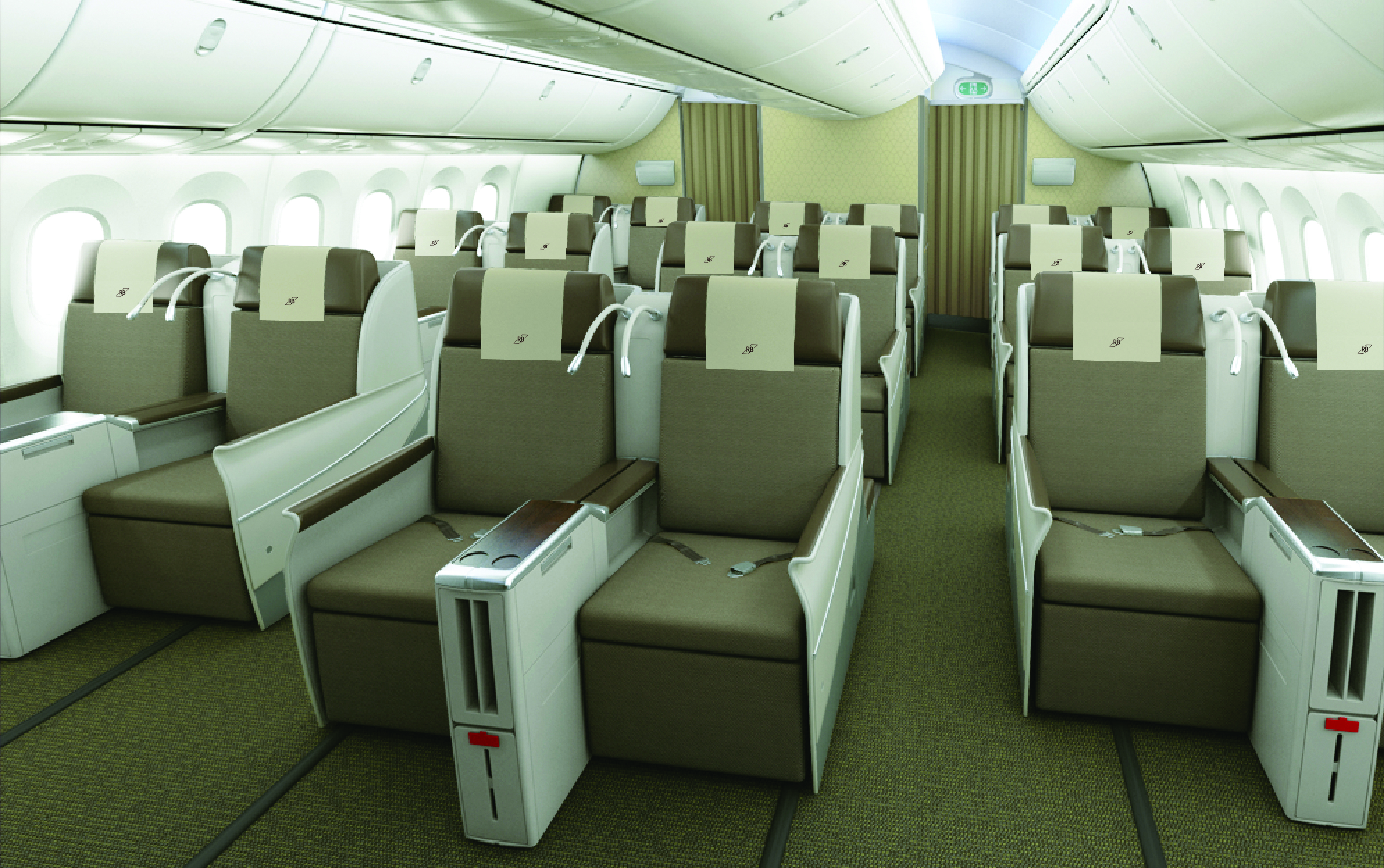 Royal Brunei Dreamliner Interior Business Thedesignair
