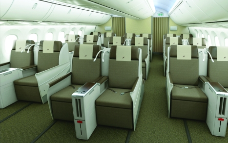 Royal Brunei Dreamliner Interior - Business