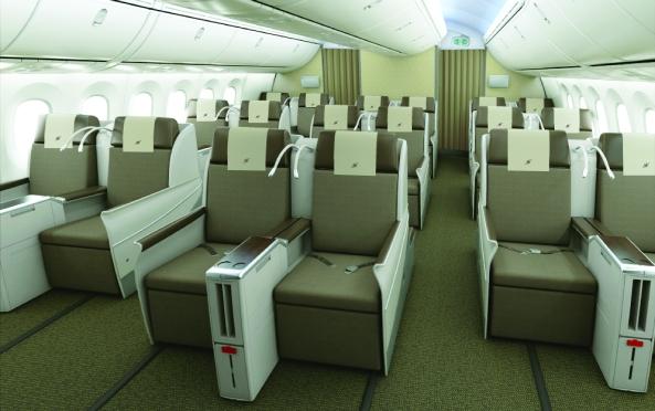 Royal Brunei Dreamliner Interior - Business