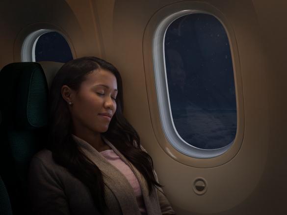 Royal Brunei Dreamliner Interior - Quiet Flight