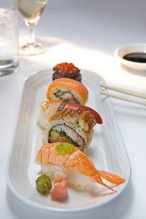 Emirates Business Class, Light Bite Sushi