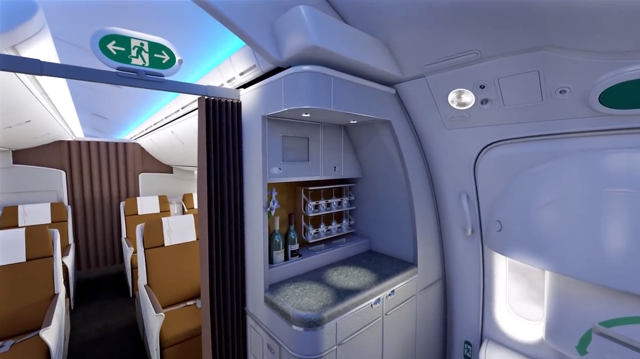 Kenya Airways Showcase 787 Interior Including Flatbeds