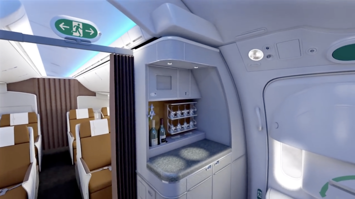 Kenya Airways 787 Business Class