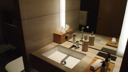 Cathay Pacific's The Wing Shower room