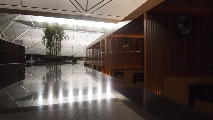 Cathay Pacific's The Wing, near the noodle bar