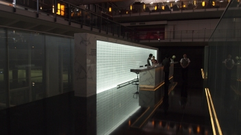 Cathay Pacific Bridge Lounge reception desk