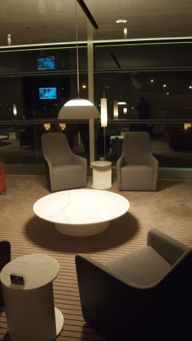 Cathay Pacific Bridge Lounge Seating Area