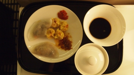 Cathay Pacific Bridge Lounge dining