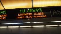LAX Fiji Airways business class check-in desk