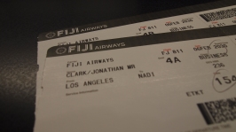 Fiji Airways boarding passes