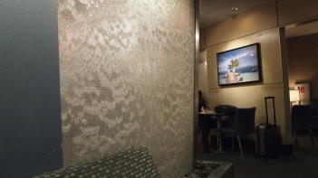 Calming waterfall feature in the lounge
