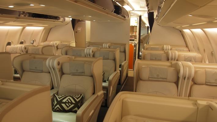 The Fiji Airways Business Class Cabin