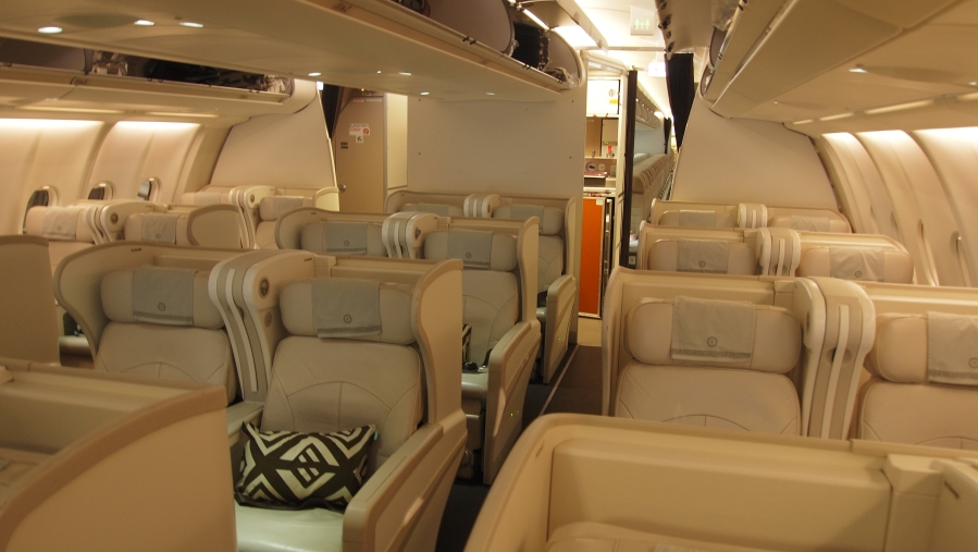 The Fiji Airways Business Class Cabin