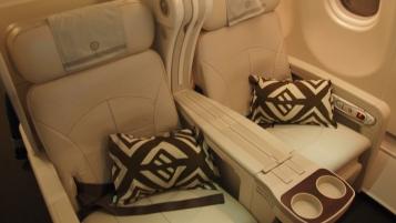 Dark brown helps smarten the white seats