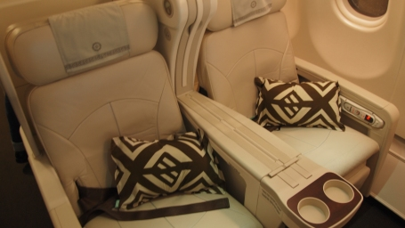 Dark brown helps smarten the white seats