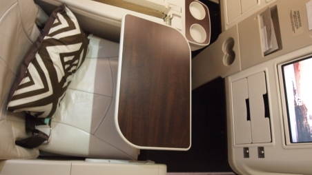 Tray table, nice wooden veneer
