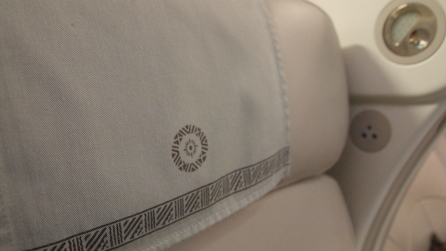 Design detail on headrest