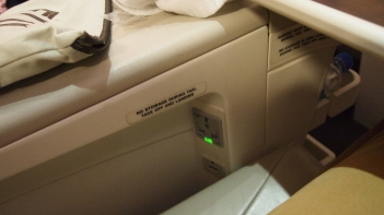 In seat power in business class