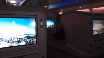 Cabin privacy is evident in business class