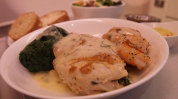 """Chicken with Prawns. """"Surf and Turf"""""""
