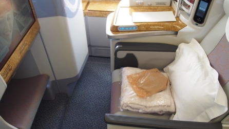 Example of aisle seat