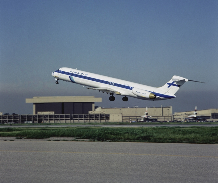 Finnair's First MD 82 in 1983, OH-LMN
