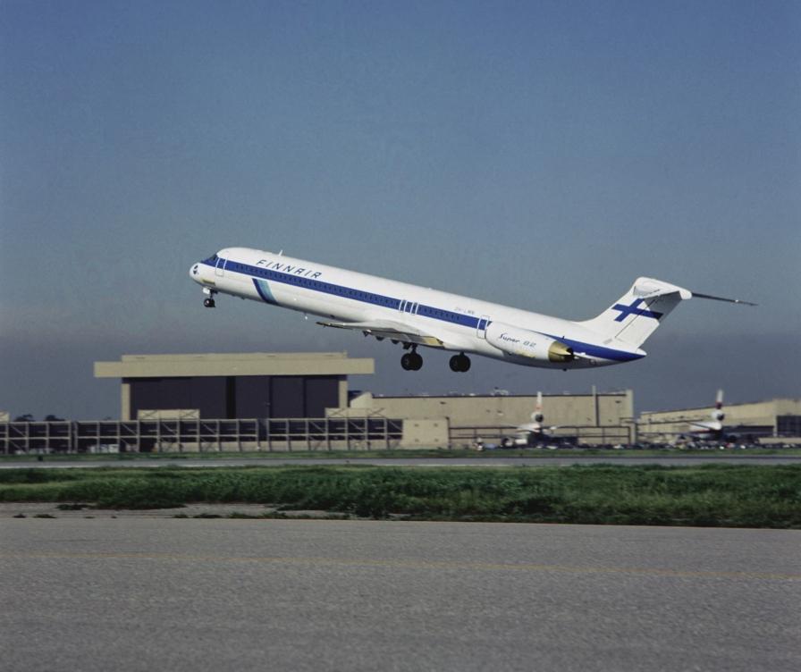 Finnair's First MD 82 in 1983, OH-LMN