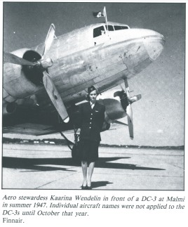 Back in 1947, Finnair's DC3