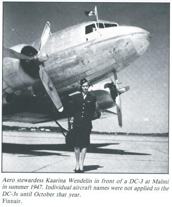 Back in 1947, Finnair's DC3